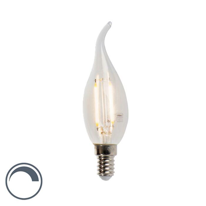 Bombilla-vela-LED-E14-3W-250lm-regulable