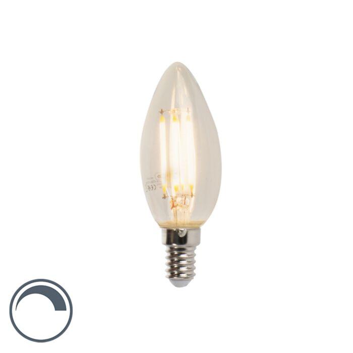 Bombilla-LED-E14-5W-470lm-2700K-vela-filamento-regulable
