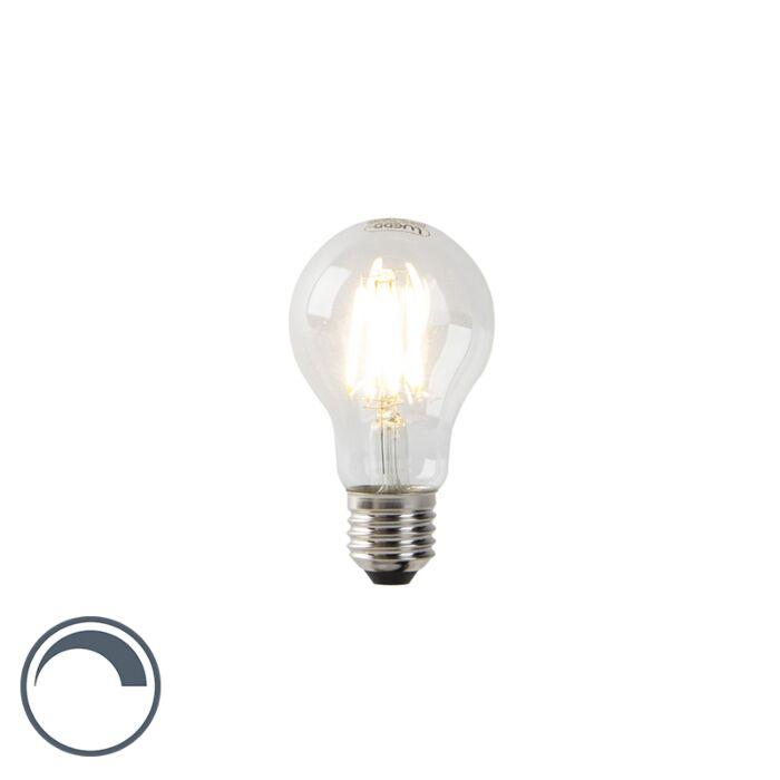 Lámpara-de-incandescencia-LED-regulable-E27-A60-vidrio-transparente-7W-800-lm-2700K