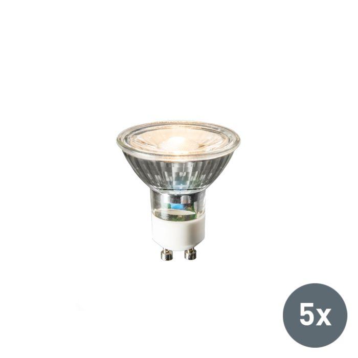 Conjunto-de-5-lámparas-LED-GU10-COB-3W-230lm-2700K