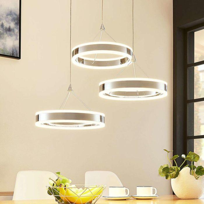 Hanglamp-chroom-3-lichts-incl.-LED-3-staps-dimbaar---Lyani