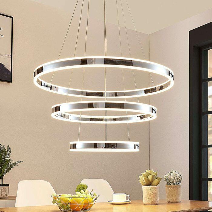 Moderne-drievoudige-hanglamp-chroom-incl.-LED-3-staps-dimbaar---Lyani