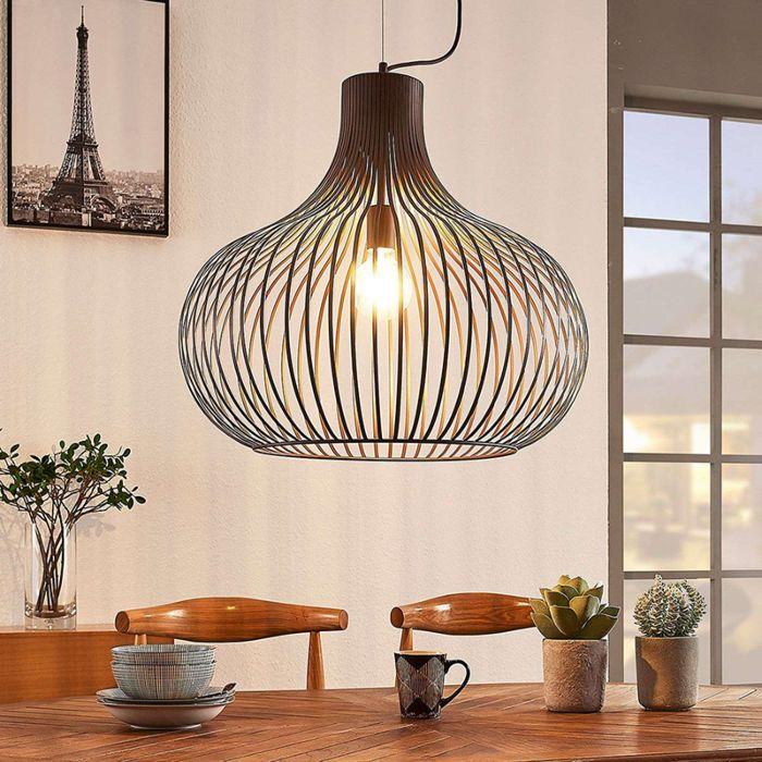 Moderne-hanglamp-bruin-60-cm---Frances