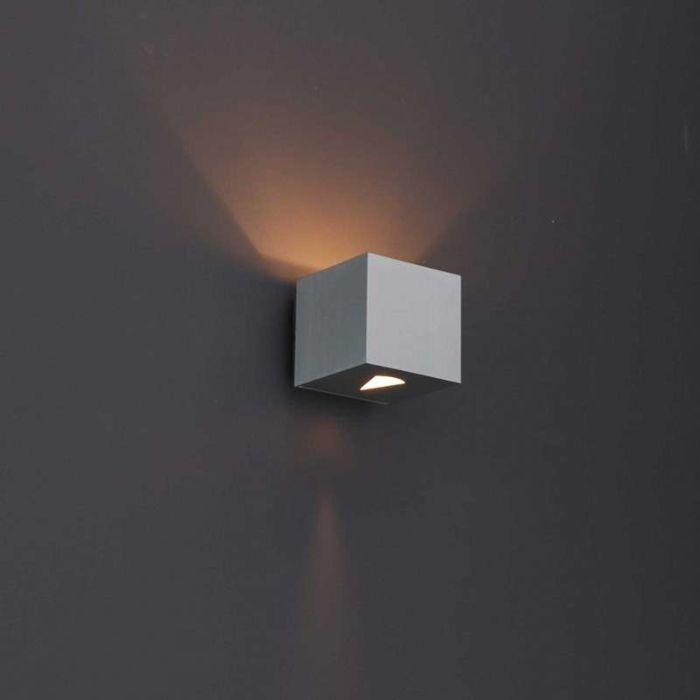 Aplique-moderno-aluminio-cuadrado---Efecto