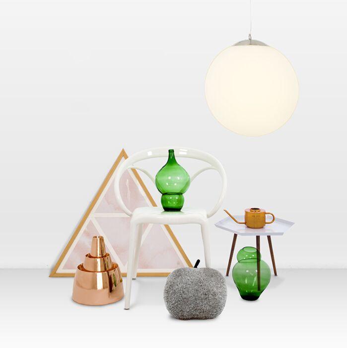 Lámpara-colgante-moderna-cristal-40cm---Bola