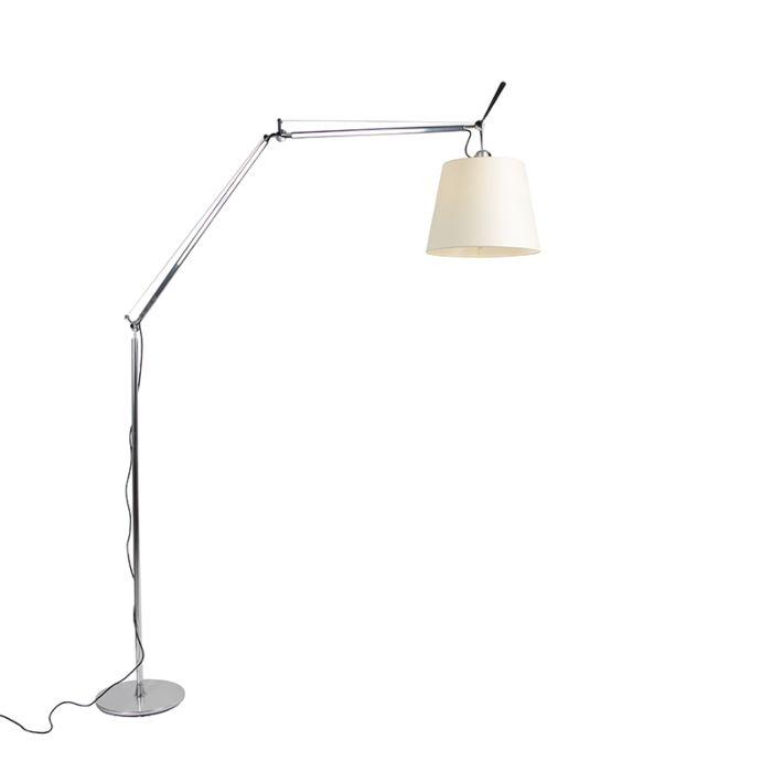 Artemide-lámpara-de-pie-de-aluminio-con-pantalla---ARTEMIDE-Tolomeo-Mega-Terra