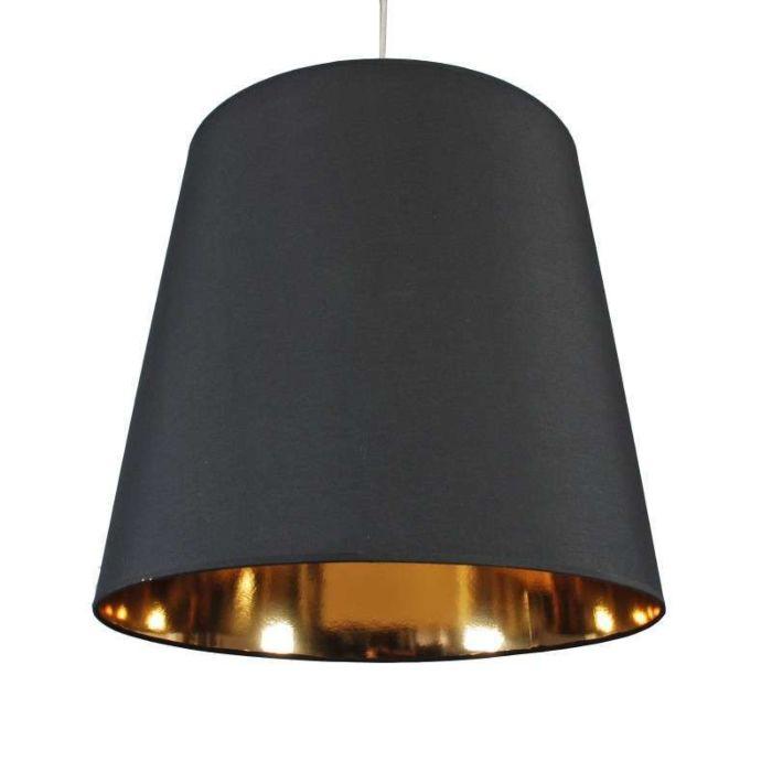 Lámpara-colgante-SHADE-negra-y-dorado