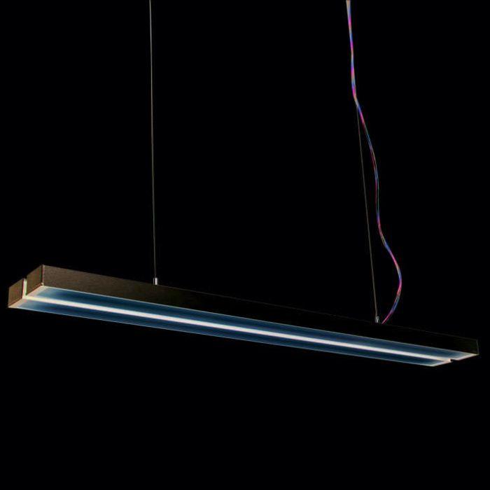 Lámpara-colgante-TUBE-Q-Doble-plata-2-x-28W