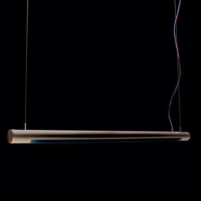 Lámpara-colgante-TUBE-O-plata-28W