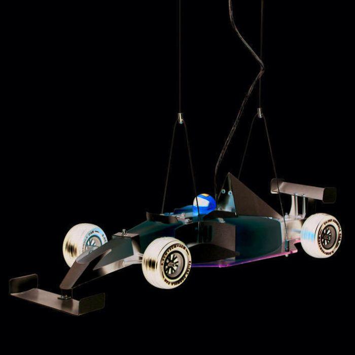 Lámpara-colgante-Kids-Formule-1-auto