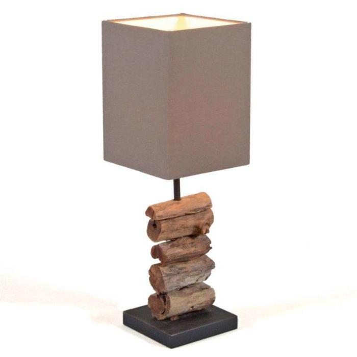 Lámpara-de-mesa-MAYOREE-pantalla-marrón