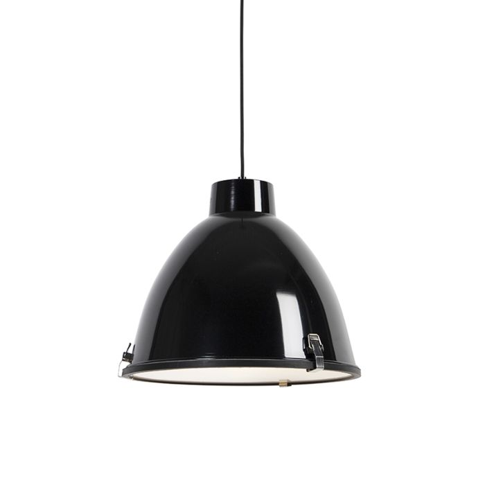 -Lámpara-colgante-industrial-negra-38cm---ANTEROS