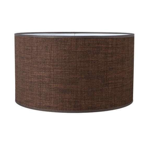Pantalla-cilíndrica-para-lámpara-colgante/-de-mesa/-de-pie-35/35/20-café