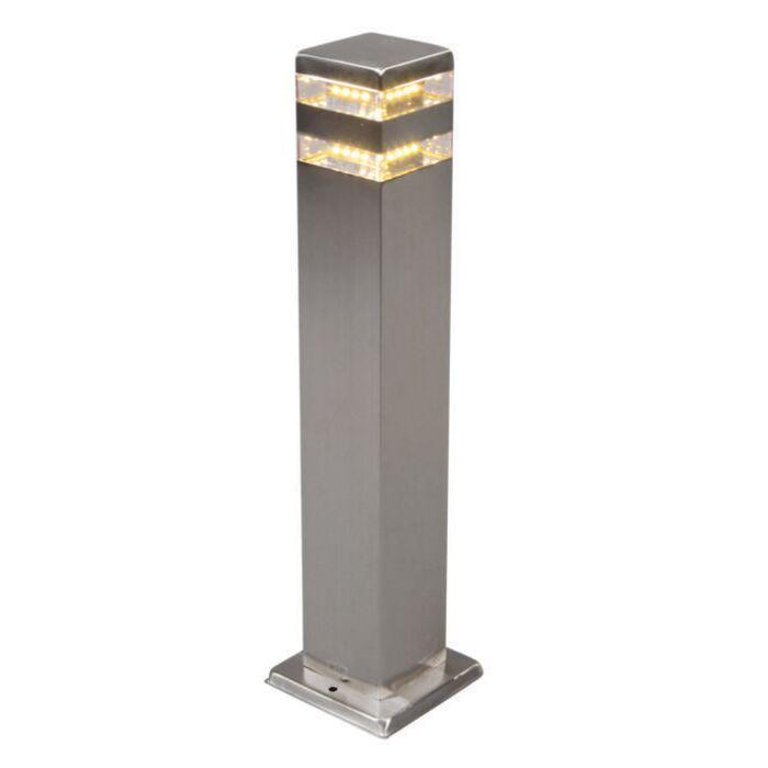 Baliza-exterior-SATIN-cuadrado-50cm-con-LED