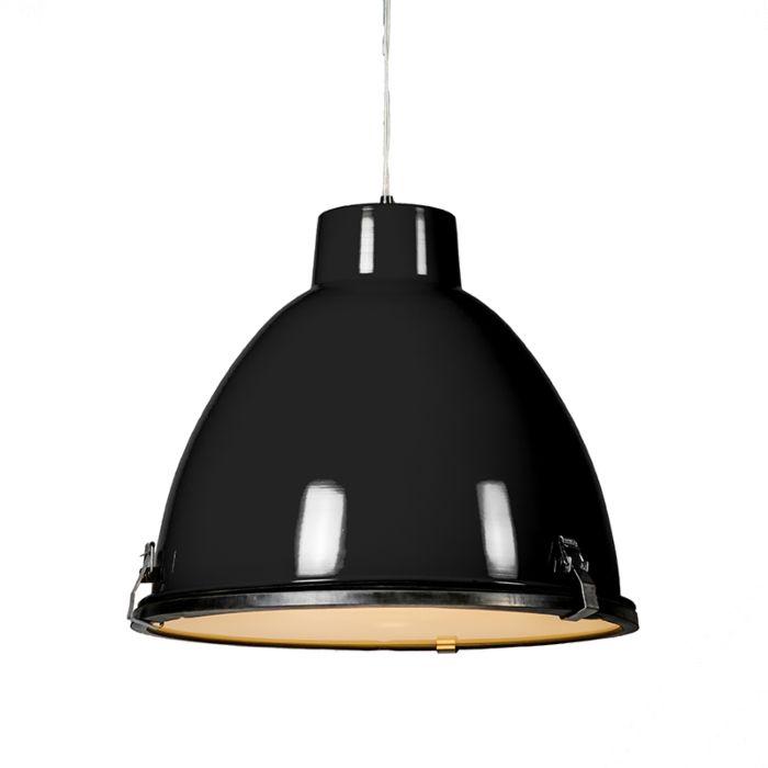Lámpara-colgante-industrial-negra-38-cm-regulable---Anteros