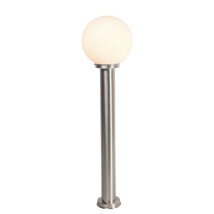 Lámpara-de-exterior-moderna-poste-de-acero-inoxidable-100-cm---Sfera