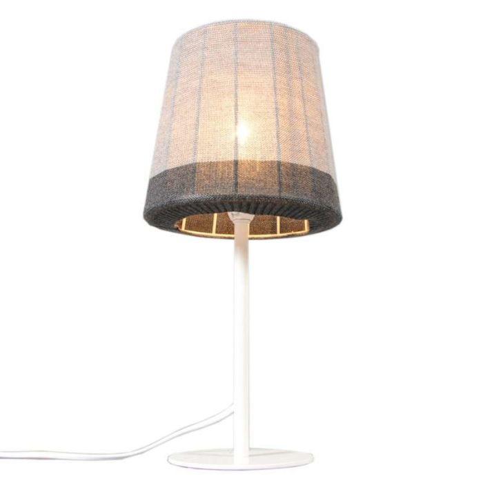 Lámpara-de-mesa-MAGLIA-blanco---gris