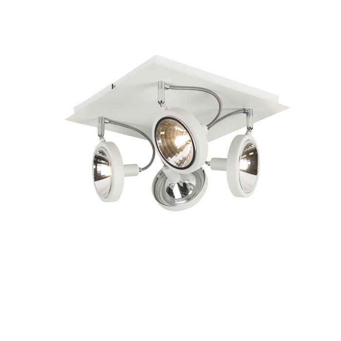 Plafón-diseño-blanco-4-luces-ajustable---NOX
