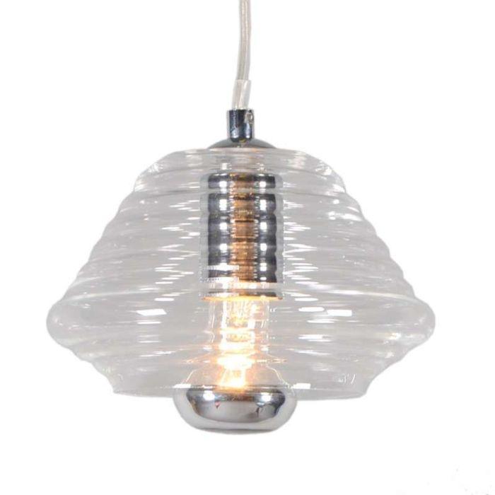 Lámpara-colgante-TREVISO-II-cristal-transparente
