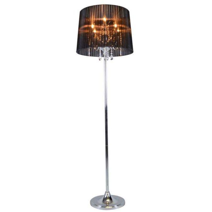 Lámpara-de-pie-clásica-cromada-con-pantalla-negra---Ann-Kathrin-5
