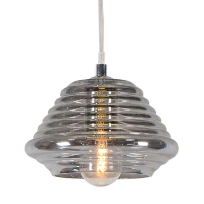 Lámpara-colgante-TREVISO-II-cristal-ahumado