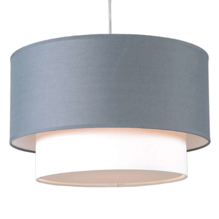 Lámpara-colgante-TAMBURO-Due-40cm-gris-blanco