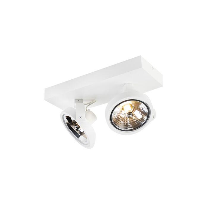 Plafón-diseño-blanco-orientable-2-luces-LED---GO