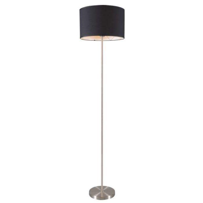 Lámpara-de-pie-LUGAR-acero-pantalla-negra
