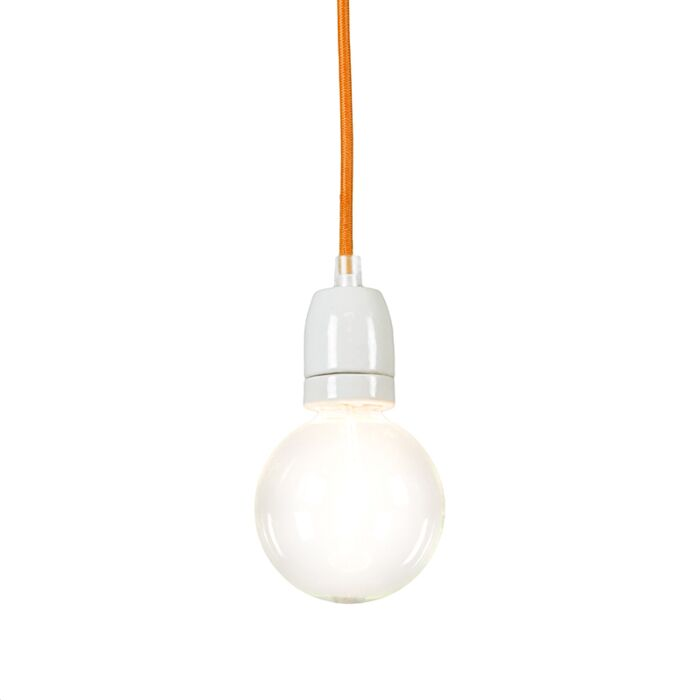 Lámpara-colgante-CAVO-naranja