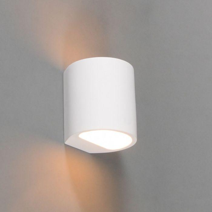 Aplique-moderno-redondo-blanco-yeso---GIPSY-Arles