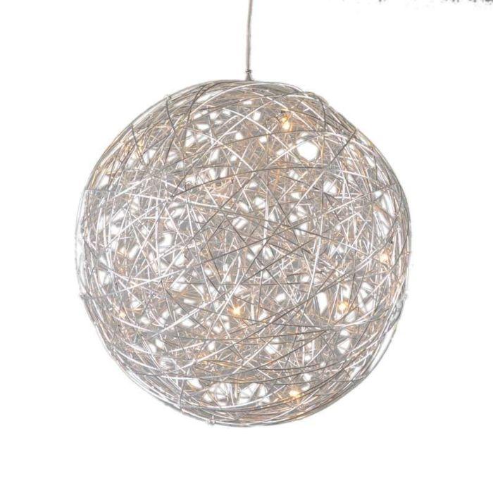 Lámpara-colgante-DRAHT-bola-60cm-aluminio