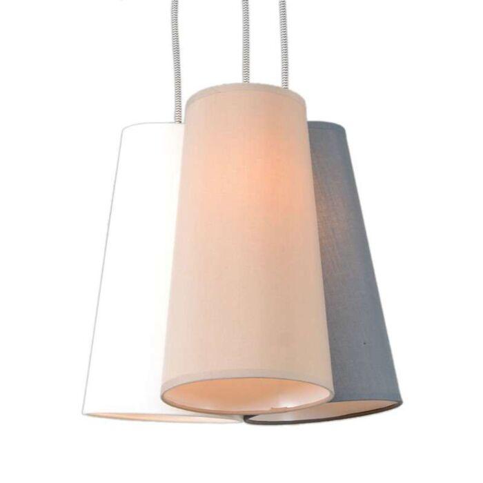 Lámpara-colgante-TROMBA-blanca-gris-crema