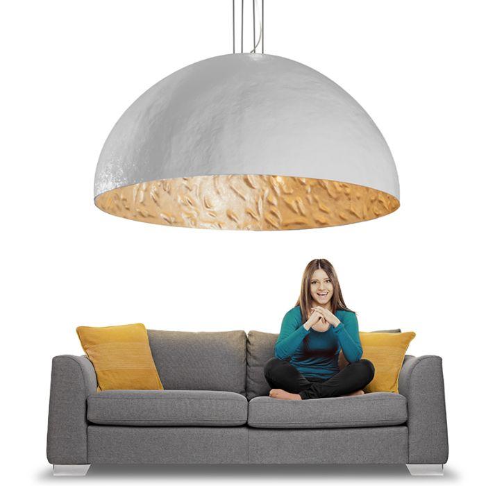 Lámpara-colgante-MAGNA-160cm-blanco-plateado
