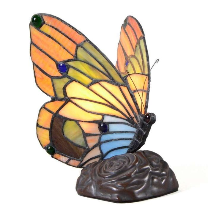 Lámpara-de-mesa-TIFFANY-Butterfly