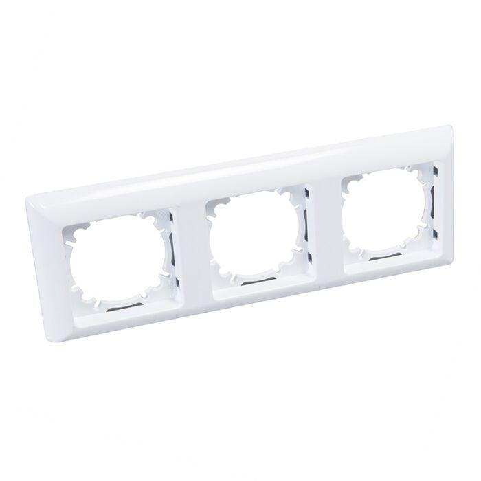 Marco-triple-para-interruptor-blanco