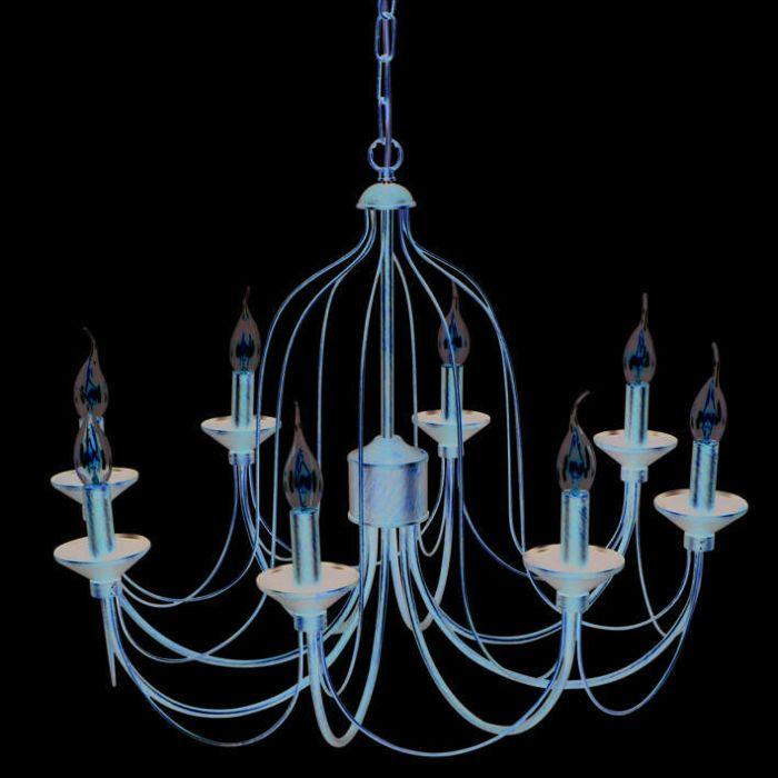 Lámpara-de-araña-LUINO-8-luces-color-óxido