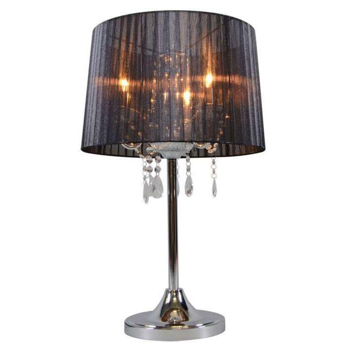 Lámpara-de-mesa-clásica-cromada-con-pantalla-negra---Ann-Kathrin-3