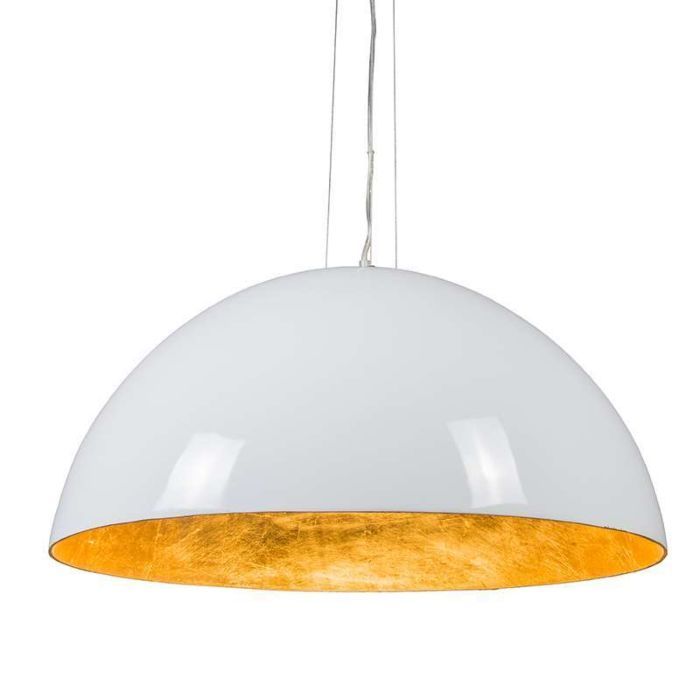Lámpara-colgante-MAGNA-Glossy-70cm-blanca-y-oro