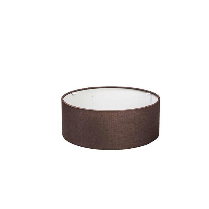 Pantalla-cilíndrica-30/30/11-marrón-para-plafón-DRUM