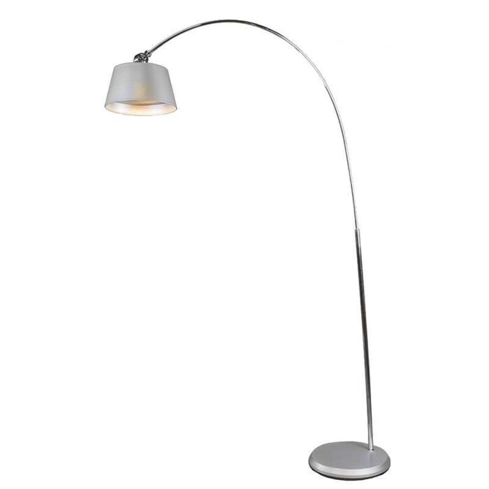Lámpara-de-arco-LED-plateada