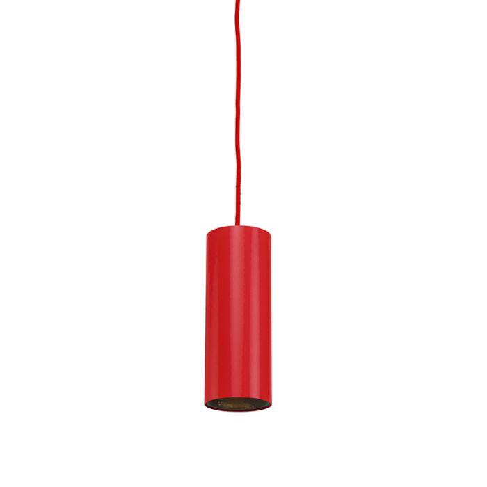 Lámpara-colgante-TUBO-1-rojo