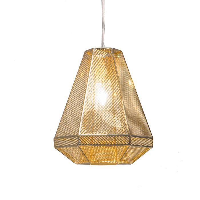 Lámpara-colgante-VINCE-dorada