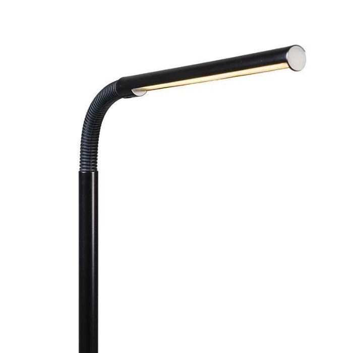 Lámpara-de-pie-FLUTE-LED-negra