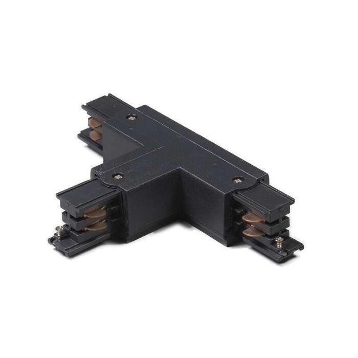 Conector-T-trifásico-carril-derecho-negro-T