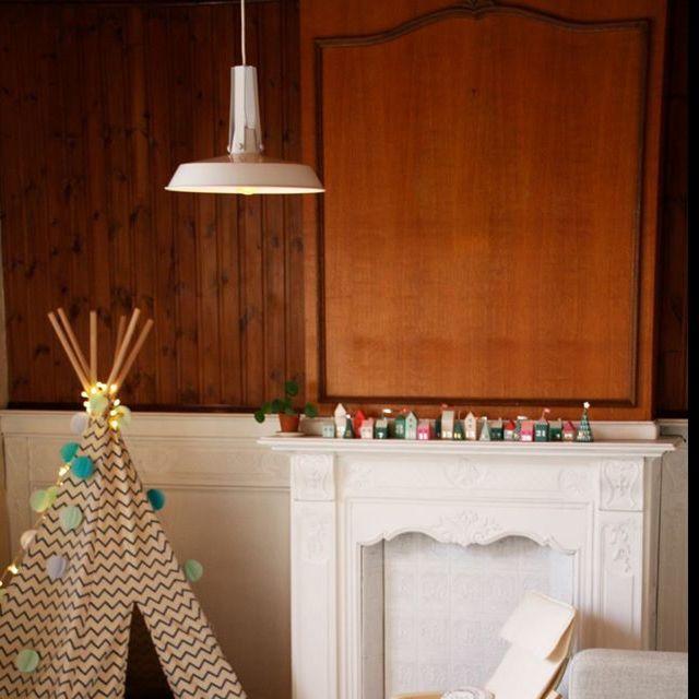 Lámpara-colgante-industrial-40-cm-blanco---LIVING-