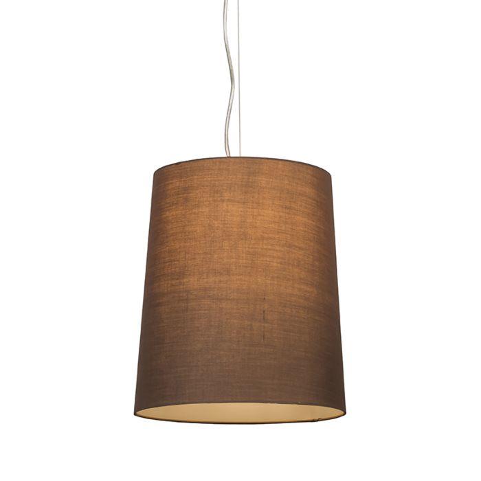 Lámpara-colgante-CAPPO-1-con-pantalla-marrón