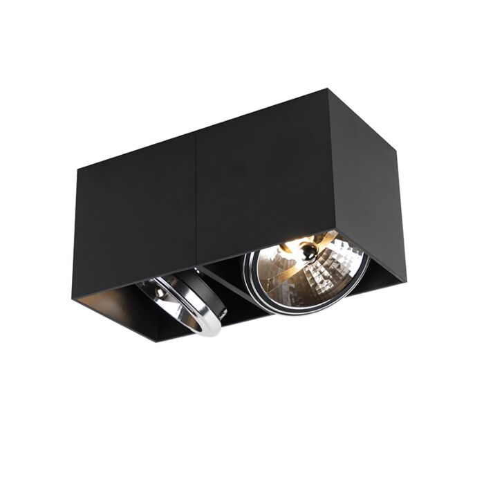Foco-diseño-rectangular-2-luces-negro-2xG9---BOX