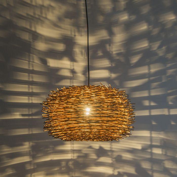 Lámpara-colgante-rústico-ratán-marrón---HATCH-45