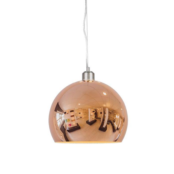 Lámpara-colgante-GLOBE-28cm-cobre
