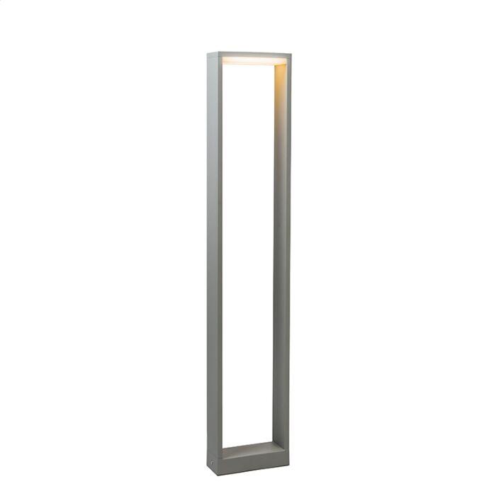 Baliza-FRAME-80-LED-gris-plateado